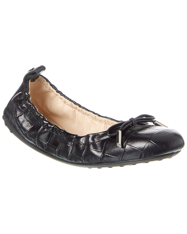Tod's Gommino Leather Ballerina Flat