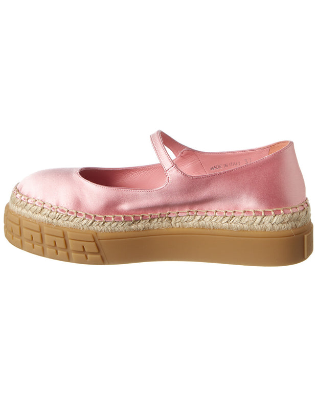 Prada Mary Jane Satin Espadrille