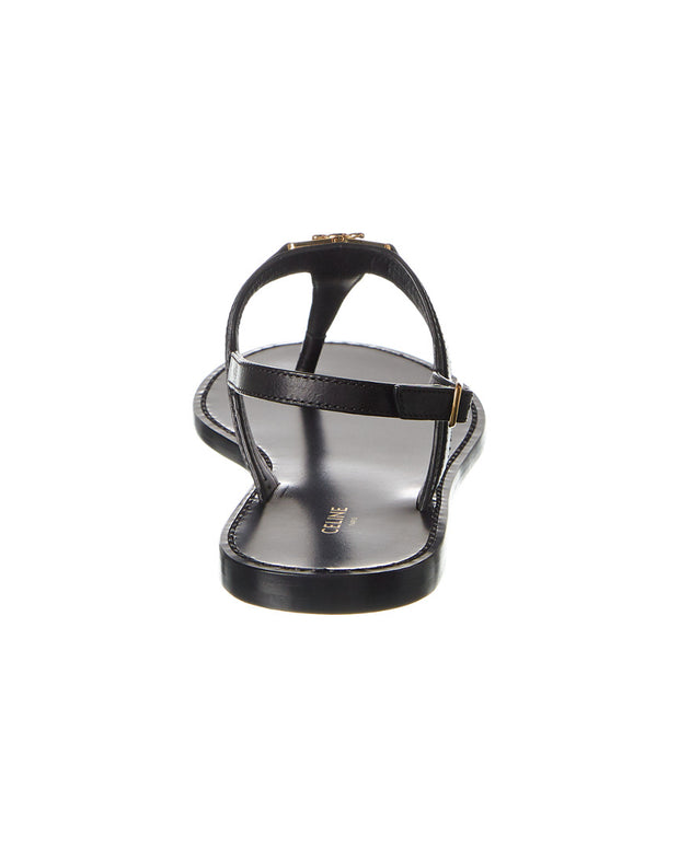 Celine Triomphe Leather Sandal