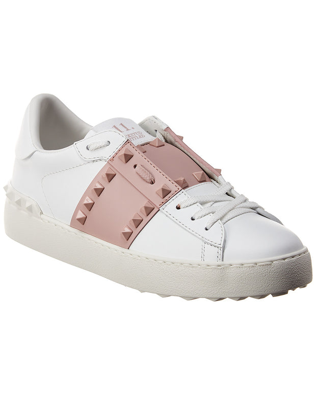 Valentino Rockstud Untitled Leather Sneaker