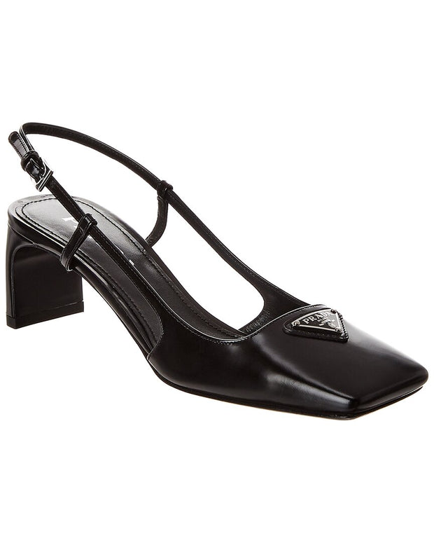 Prada Leather Slingback Pump