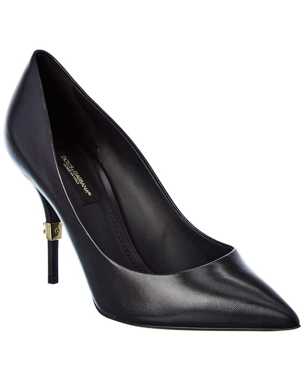 Dolce & Gabbana Dg Logo Leather Pump