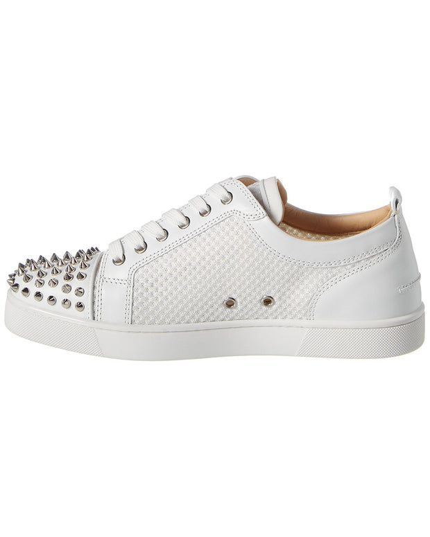 Christian Louboutin Ac Louis Spikes Leather & Mesh Sneaker