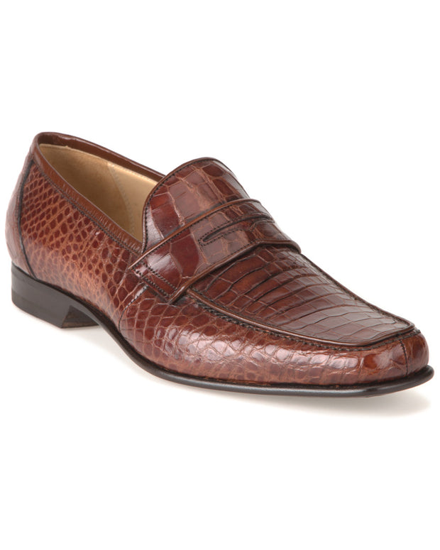 Caporicci Alligator Penny Loafer