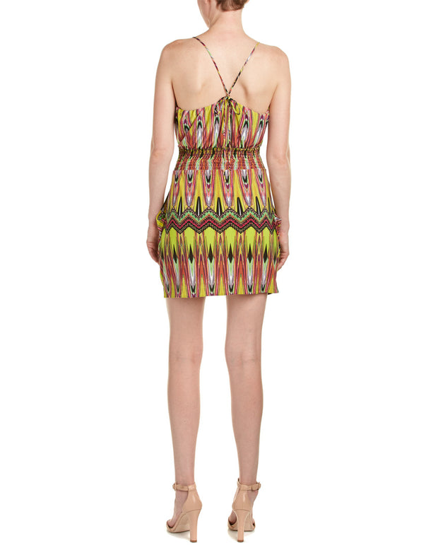 Tbagslosangeles Printed Surplice Dress