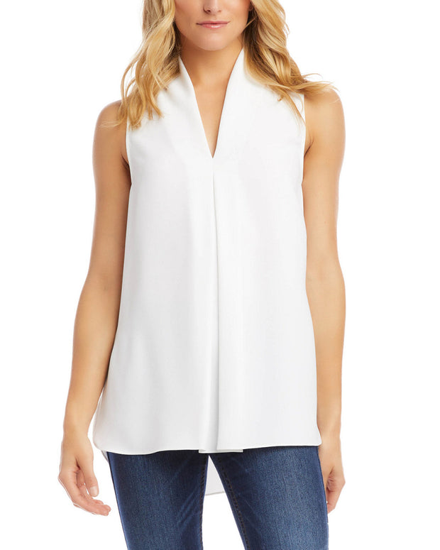 Karen Kane Front Pleat Top
