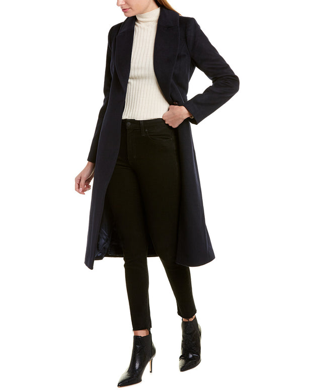 Badgley Mischka Wool-Blend Wrap Coat