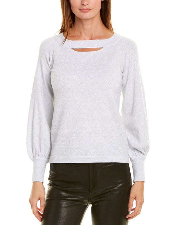 Minnie Rose Cold-Shoulder Sweater