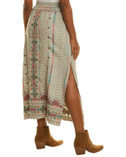 Johnny Was Verena Linen Maxi Skirt