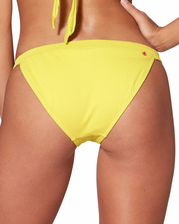 Red Carter Texture Banded Hipster Bikini Bottom