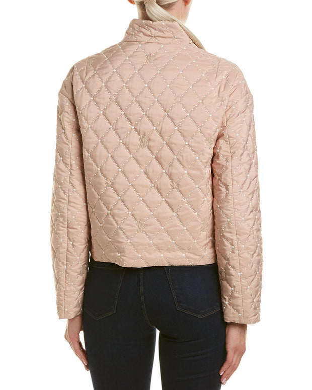 Moncler Cabriole Silk-Lined Short Jacket