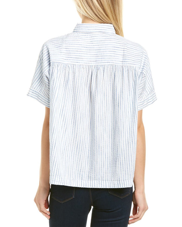 Madewell Shirred Yoke Popover Top