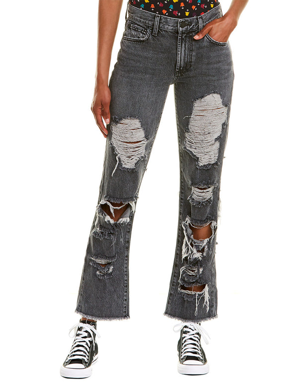 Alice + Olivia Genevive Extreme Distressed Past Midnight Girlfriend Cut