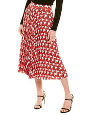 Milly Pleated A-Line Skirt