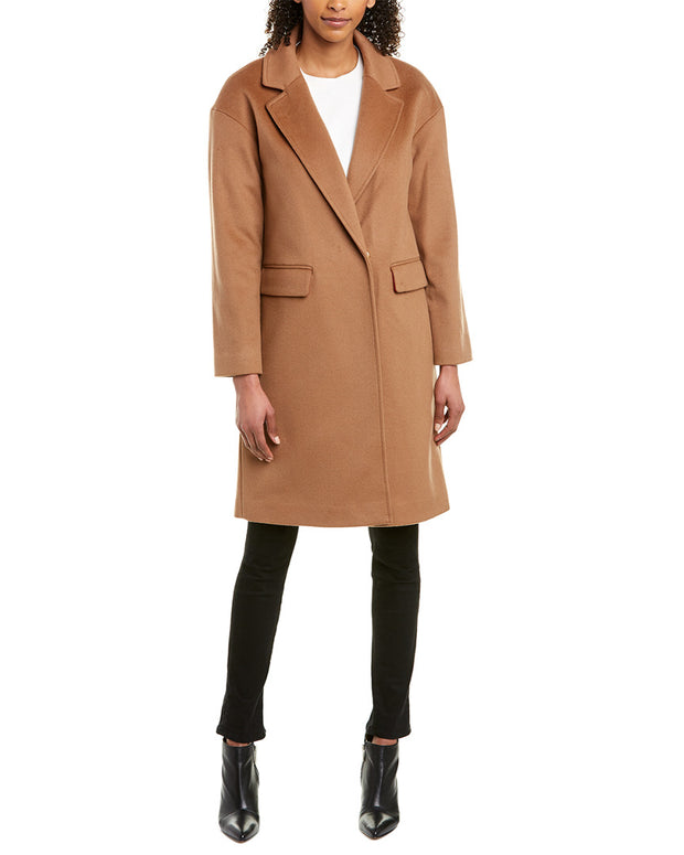 Trina Turk Bianca Wool Long Coat