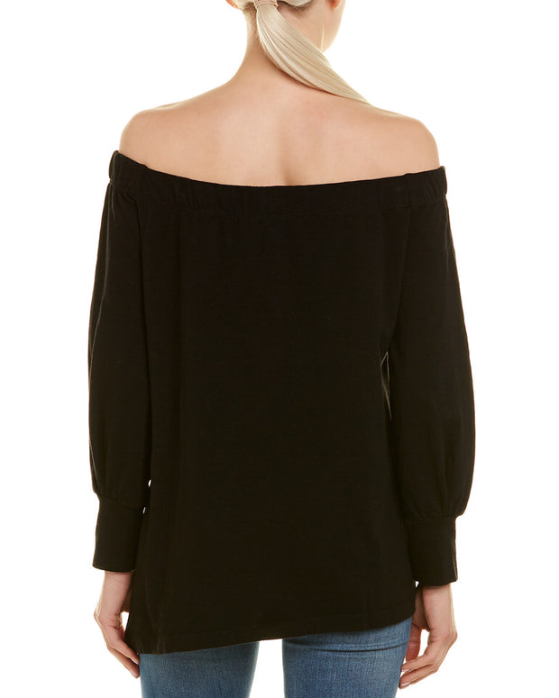 Heather By Bordeaux Off-The-Shoulder Top