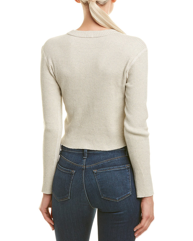 Monrow Raw Cropped Sweater
