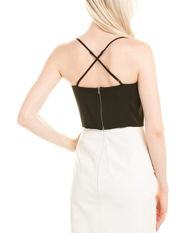 Michelle Mason Bustier Silk-Lined Top