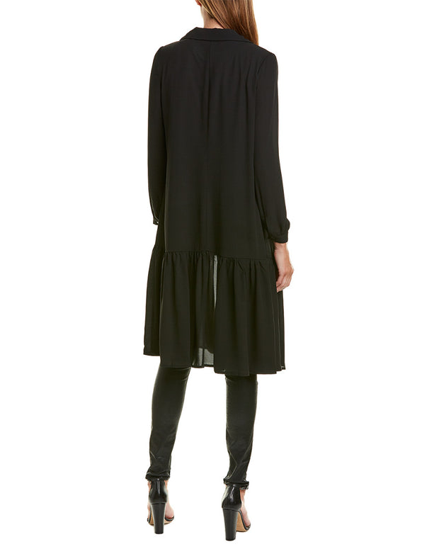 Hone Year Silk-Blend Chiffon Coat