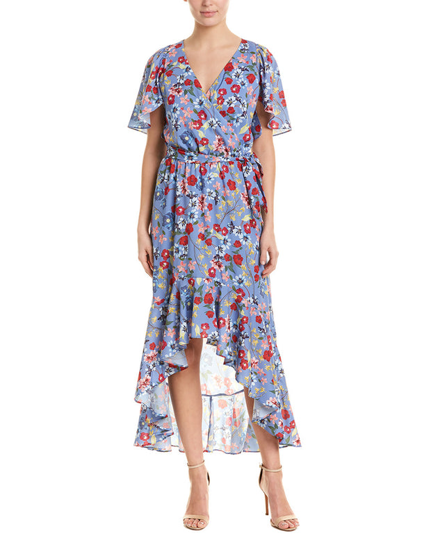 Parker Hi-Low Wrap Maxi Dress