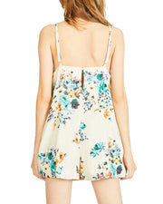 Sadie & Sage Sleeveless Square Neck Multi Floral Romper