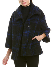 Cinzia Rocca Icons Plaid Wool-Blend Coat