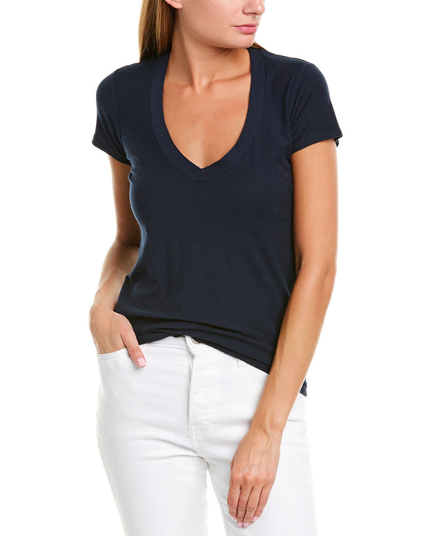 James Perse Relaxed Casual V-Neck T-Shirt