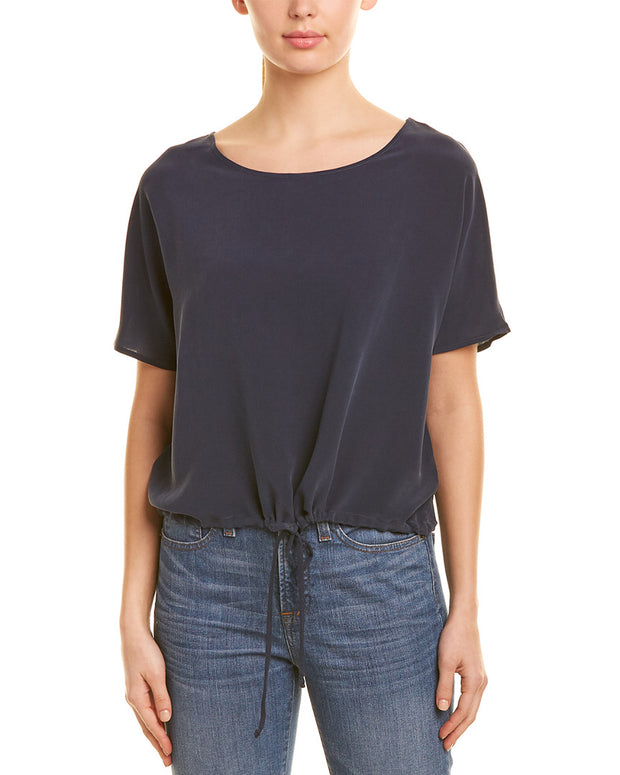 Chaser Cropped Silk Top