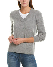 Design History Dual Rib Cashmere V-Neck Sweater