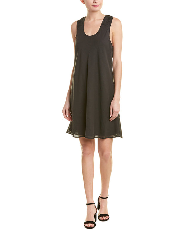 Quinn Racerback Silk-Blend Shift Dress