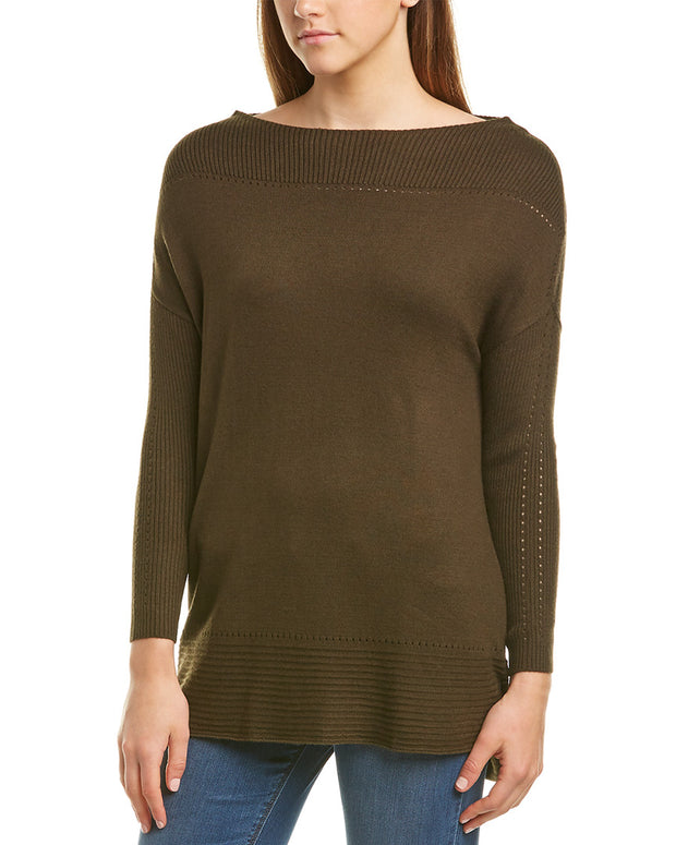 Michael Stars Open Neck Cashmere-Blend Tunic