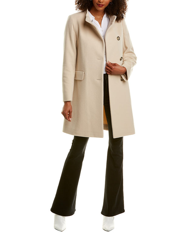 Cinzia Rocca Icons Asymmetrical Wool & Cashmere-Blend Coat