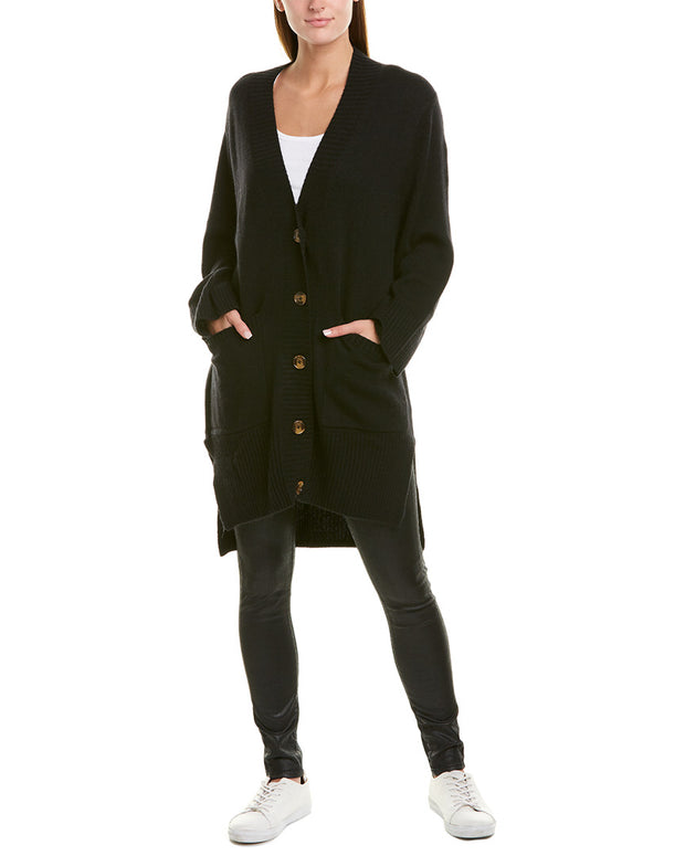 Autumn Cashmere High-Low Oversized Wool & Cashmere-Blend Cardigan