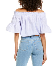 Kate Spade New York Broome Street Stripe Off The Shoulder Top