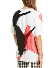 Derek Lam Horse Embroidered Silk Top