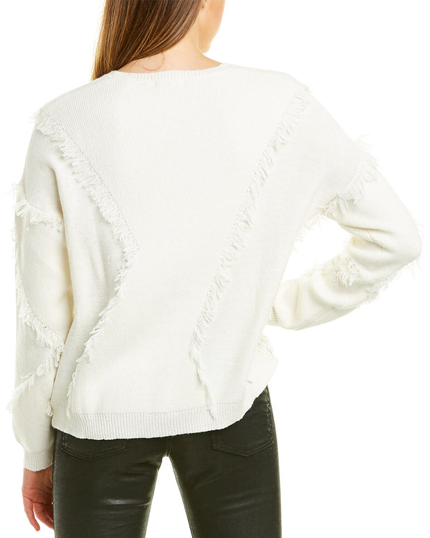 Atm Anthony Thomas Melillo Fringe Wool-Blend Sweater