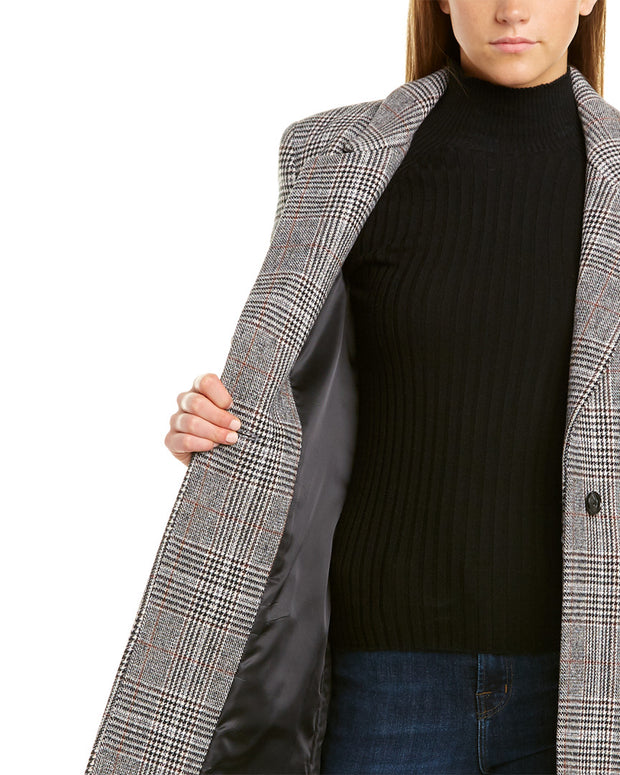 Cole Haan Single-Breasted Double Face Wool-Blend Coat