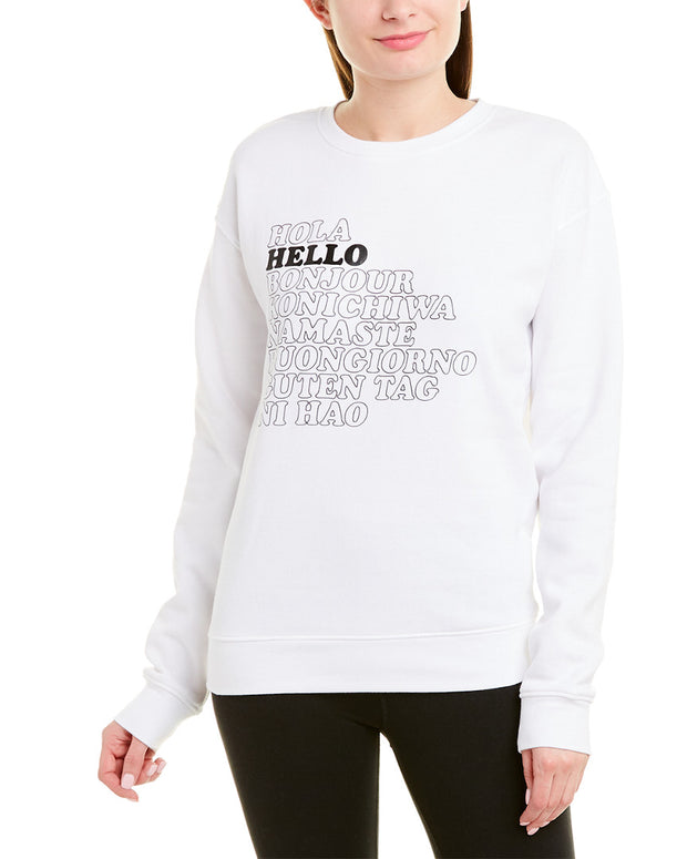 Betsey Johnson Hello Goodbye Boyfriend Sweatshirt