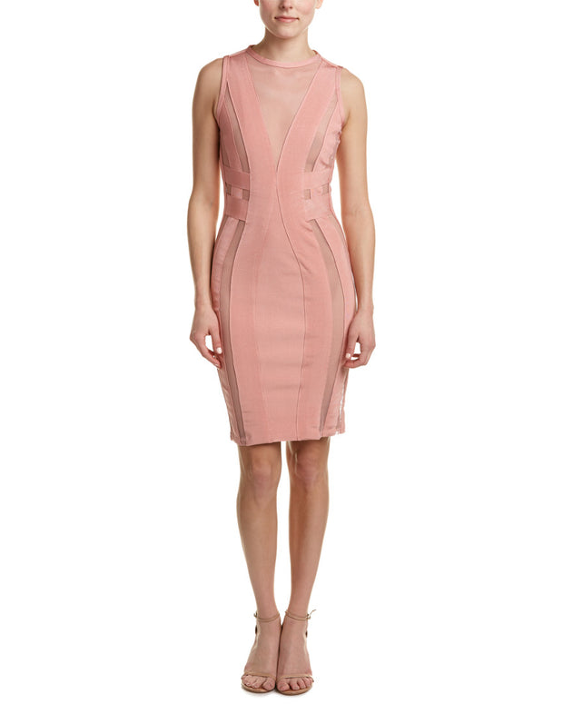 Wow Couture Bandage Mesh Sheath Dress