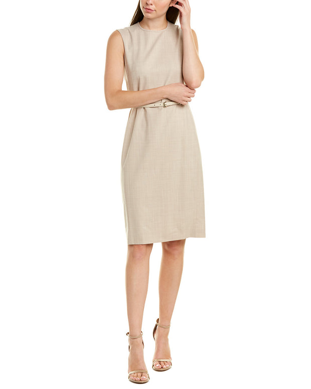 Max Mara Wool-Blend Sheath Dress