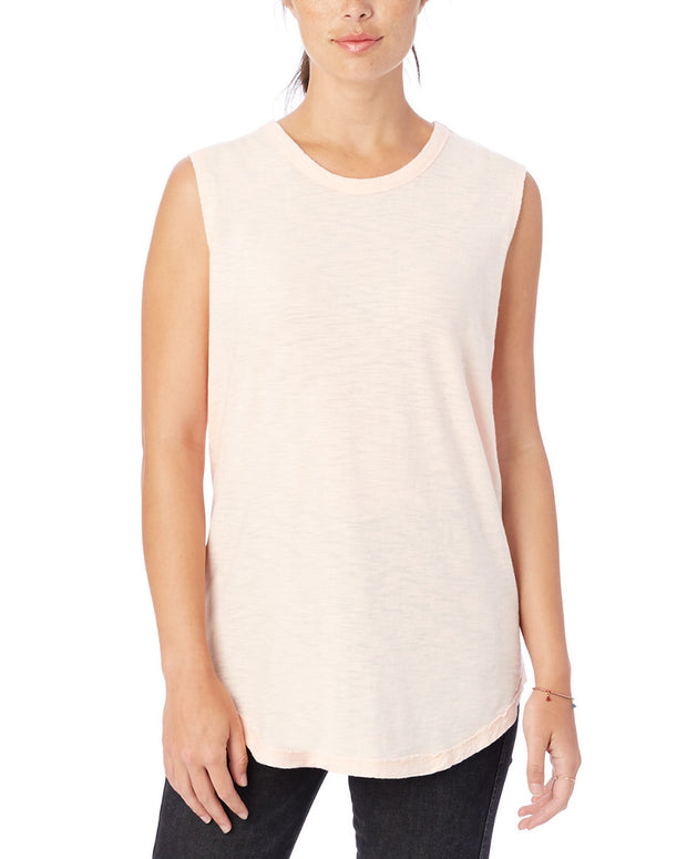 Alternative Apparel Shadow Wash Inside Out Sleeveless T-Shirt