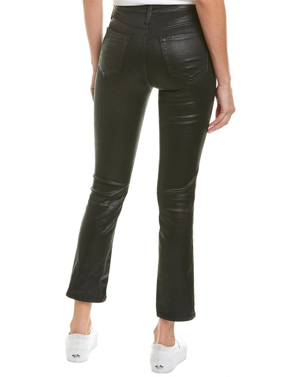 Ag Jeans The Isabelle Super Black High-Rise Straight Crop
