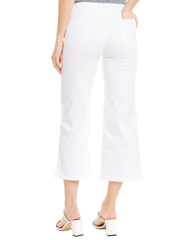 Ag Jeans Etta White High-Waist Wide Leg Crop