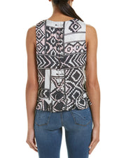 Stevie May Serpent Trail Silk-Blend Top