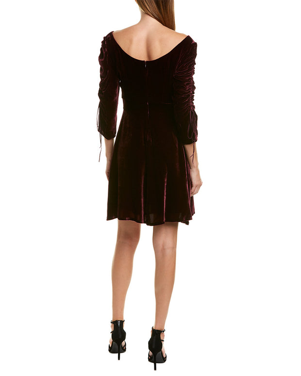 The Kooples Bliss Velvet Silk-Blend Mini Dress