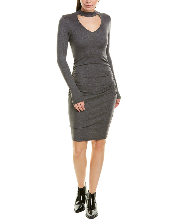 Michael Stars V-Neck Choker Sheath Dress
