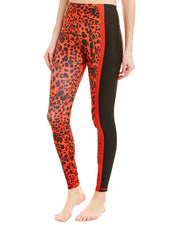 Betsey Johnson Contrast Stripe Printed High-Rise Ankle Legging