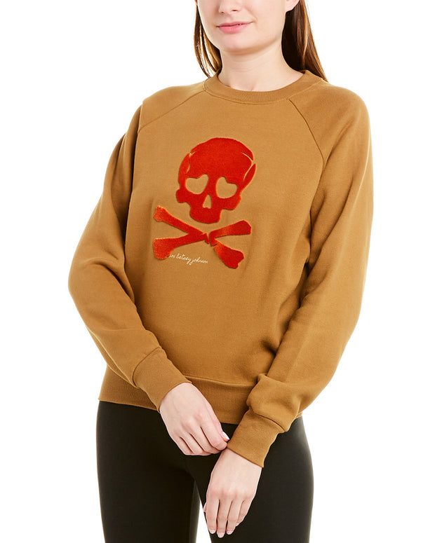 Betsey Johnson Skull Embroidery Sweatshirt