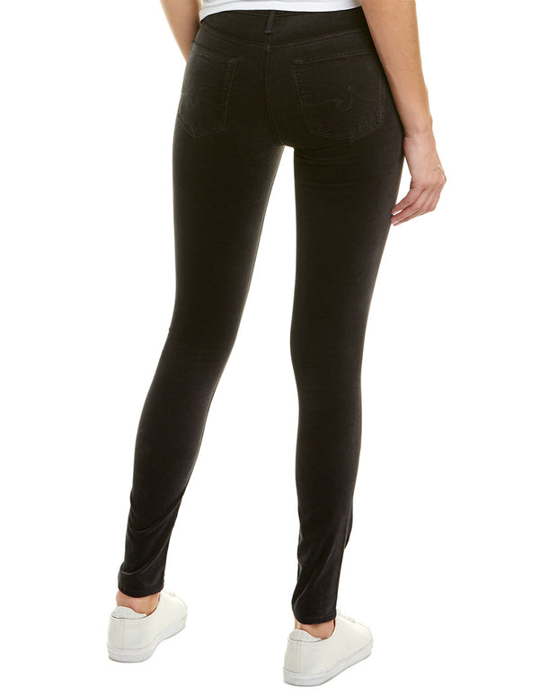Ag Jeans The Farrah Rich Mercury Velvet High-Rise Skinny Ankle Cut