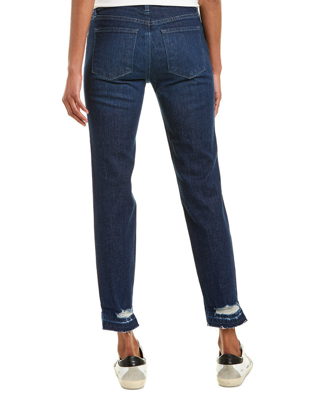J Brand Johnny Mid-Rise Cosmic Destruct Boyfit